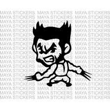 wolverine cartoon design decal sticker