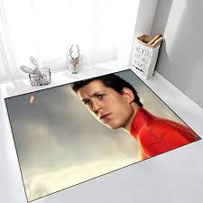 Amazon Com Superhero Tom Holland As Peter Parker Spider Man Far From Home Kids Rugs 5 X 8 W152cm X L243cm For Living Room Bedrooms Kids Nursery Home Decor Kitchen Dining