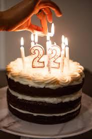 Dark Chocolate Red Velvet Birthday Cake Daydreamer Style 22nd Birthday Cakes Red Velvet Birthday Cake Happy Birthday Cakes