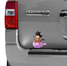 Goku Flying Car Window Bumper Sticker Vinyl Decal Dragon Ball Z Jdm Anime Wish
