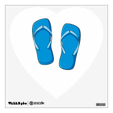 Custom Blue Flip Flops Sandals Greeting Cards Pins Wall Decal Zazzle Com