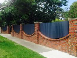 Brick Fence Made From Recycled Bricks To Match The Existing House Building A Fence House Fence Design Brick Fence