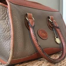 vintage dooney bourke leather satchel