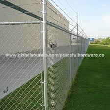 Green Vinyl Coated Black Vinyl Coated No Climb Wire Chain Link Fence With Barbed Wire On Top Global Sources