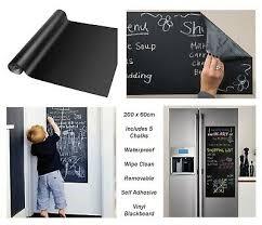 60x200 Vinyl Blackboard Wall Sticker Removable Self Adhesive Chalkboard 5 Chalks Home Garden Decor Decals Stickers Vinyl Art
