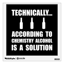Chemistry Alcohol Solution Wall Decal Zazzle Com