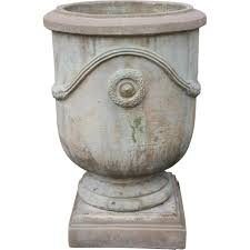 position stone urn on plinth from