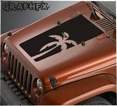 Vinyl Hood Decal Blackout Palm Tree Compatible With Jeep Etsy