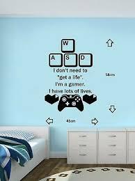Gaming Wall Art Decal Mural Sticker Boys Bedroom Video Game Ebay