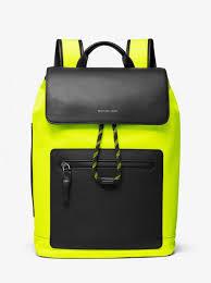 brooklyn nylon backpack acid yellow