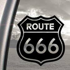 Amazon Com Route 666 Satanic Rob Zombie Devil Black Decal Car Sticker Automotive