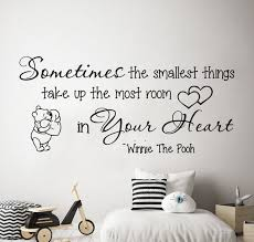 Winnie The Pooh Wall Decal Quote Wall Decal Pooh Art Nursery Etsy