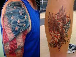 patriotic flag tattoo designs