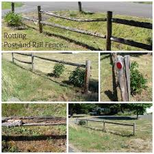 How To Easily Repair A Round Post And Rail Fence An Oregon Cottage