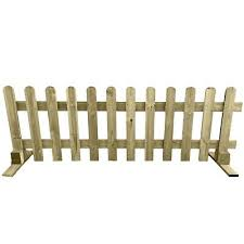 Portable Freestanding Smooth Treated 6ft Picket Fence Panel 2ft 3ft Or 4ft High Ebay