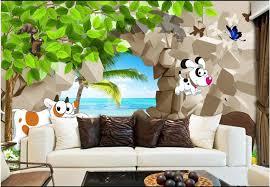 Custom Photo Wallpapers For Walls 3 D Cartoon Mural Wallpaper Children S Room Kids Room Mural Wall Papers Home Decor Wallpapers Aliexpress