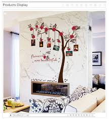 Big Tree Photo Frame Flower Vine Wall Stickers Vinyl Diy Art Wall Decals For Living Room Sofa Background Wall Study Decor Murals Wall Decals Wall Stickerdecoration Murale Aliexpress