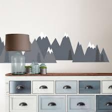 Wallpops Mountain Range Vinyl Wall Decal Set In Grey Bed Bath Beyond