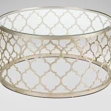 gold trellis coffee table products