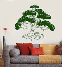 Vinyl Wall Decal Bonsai Japanese Art Tree Asian Style Stickers 1364ig Ebay