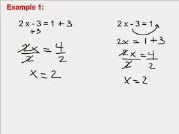 and two step linear equations