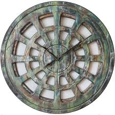 huge wall clock with shabby chic look