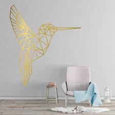 Hummingbird Geometric Wall Decal Kuarki Lifestyle Solutions