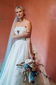 cool modern bridal style from