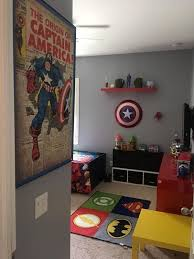 The Kids Bedroom Needed An Update With Some Wall Stickers Lights And Curtains So Here Are My Ideas And Some Super Che Kids Room Rug Marvel Room Avengers Room