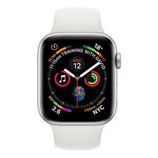 Apple Watch Series 4 44mm Silver Aluminium Case White Sports Band (GPS –  5th Movement