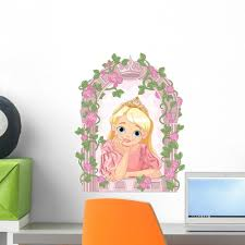 Beautiful Princess Window Wall Decal Wallmonkeys Com