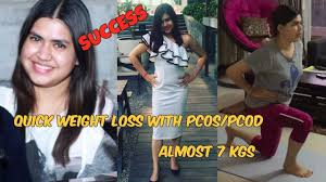quick weight loss with pcod pcos