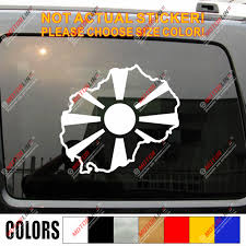 Macedonia Map Flag Decal Sticker Car Vinyl Macedonian Pride No Bkgrd Pick Size Car Stickers Aliexpress