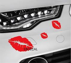 Edecal Red Lips Kiss For Auto Car Bumper Window Vinyl Decal Sticker Decals Decor Ct001 Car Stickers Aliexpress