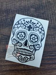 Sugar Skull Decal Car Window Decal Vinyl Decal Dia De Etsy