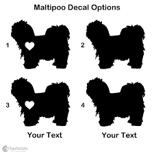 Personalized Maltipoo Decal Top Pet Gifts
