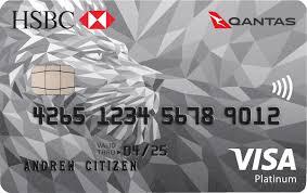 hsbc qantas platinum visa credit card