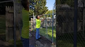 How To Stretch Chain Link Fence Installing Chain Link Fence Youtube