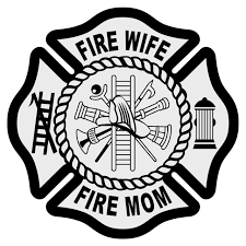 Fire Wife Fire Mom Maltese Cross Decal