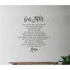 Winston Porter The Lords Prayer Vinyl Words Wall Decal Wayfair
