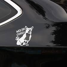 1525082844 Broshoo Cute Welsh Corgi Pet Dog Sticker Welsh Pet Car Sticker Applique Window Whole Body Motorcycle Decals Car Styling Automobiles Motorcycles Exterior Accessories