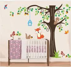 Wall Decals Nursery Tree With Forest Friend Kids Wall Decals Nursery Ellaseal