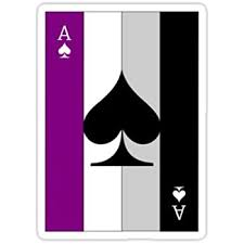 Amazon Com Chili Print Ace Of Spades Asexual Flag Sticker Graphic Bumper Window Sicker Decal Gay Pride Sticker Automotive