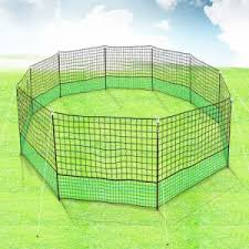 New 21m X 125cm Poultry Net Chicken Fence Netting Chooks Ducks Hens W 10 Posts