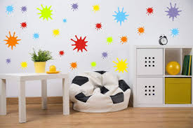 Amazon Com Easu Splatter Wall Decals 126 Decals Splotches Wall Decor Removable Vinyl Paint Wall Decals Kids Wall Decals Toys Games