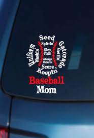 Baseball Mom Car Decal Baseball Mom Vinyl Car Decal Vinyl Etsy Car Decals Vinyl Baseball Mom Car Decals