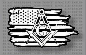 Stonemason Mason Masonic Freemason American Flag Sticker Decal Ebay