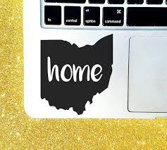 I Love Ohio State Home Decal 5 X 5 5 Cute Vinyl Window Sticker For Car Telesto Gr