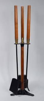 mid century seymour fireplace tools