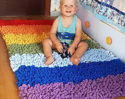 Rainbow Rug Etsy